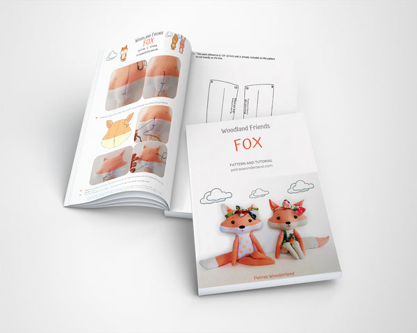 Set of 3 PDF Woodland Friends Bunny, Bear and Fox - Sewing Patterns and Tutorials 08