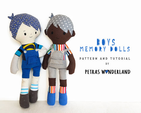 Memory Dolls Boys - PDF sewing pattern and tutorial