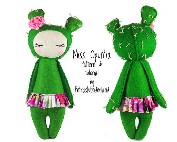 Miss Opuntia - PDF doll sewing pattern and tutorial 01
