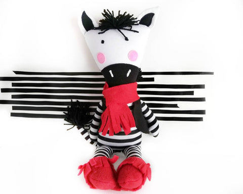 Zebra - PDF doll sewing pattern and tutorial
