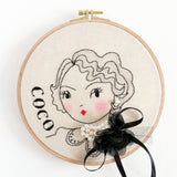 Coco Chanel - Celebrity Portrait Embroidery Hoop