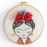 Frida Kahlo - Embroidery Hoop Art 02