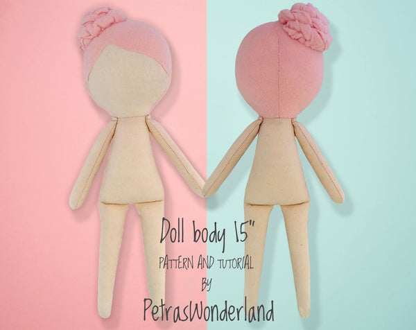 Doll Body 15 inch - PDF doll sewing pattern and tutorial 01