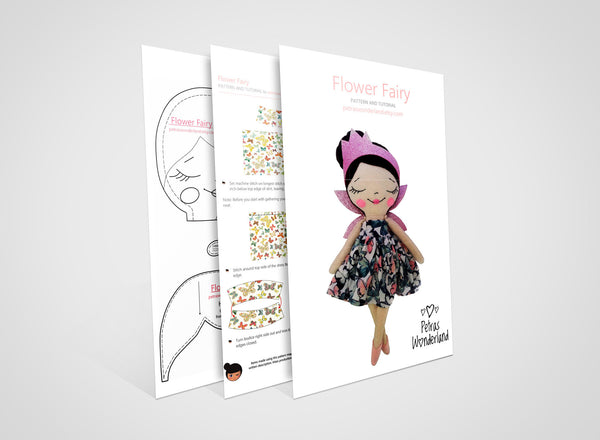 Flower Fairy - PDF doll sewing pattern and tutorial