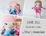 Sophie Doll - PDF doll sewing pattern and tutorial 01