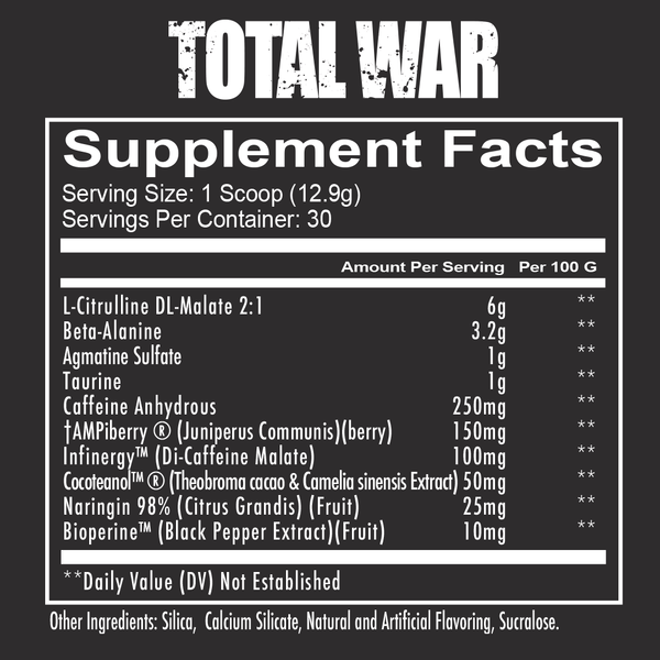 Redcon1 TOTAL WAR - PRE WORKOUT 394.89g (30 servings)