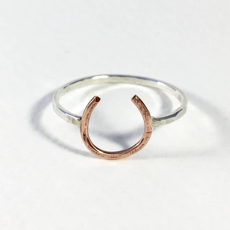 Lucky Horseshoe Ring - Copper