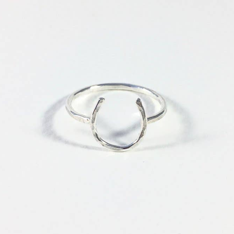 Lucky Horseshoe Ring - Silver