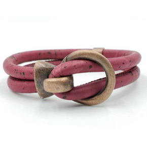 Cork Copper Open Hook Bracelet - Pick Your Color