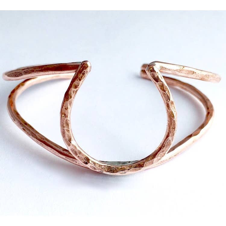 Lucky Horseshoe Double Cuff - Copper