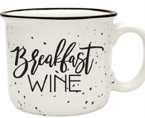 Breakfast Wine Camper Mug