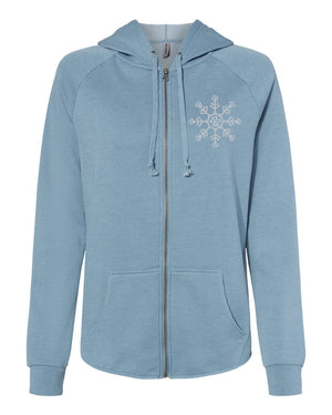Snow Paw Rhine-Studded Full Zip Sweatshirts