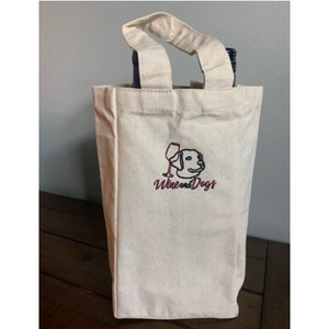 Wine&Dogs Canvas Wine Tote (Double the wine, double the fun!)