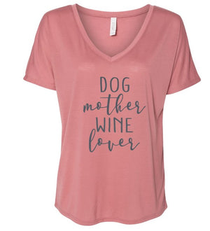 Vintage Dog Mother, Wine Lover Slouchy Tee
