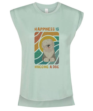 Vintage Vibes ~ Happiness is Hugging a Dog Tee