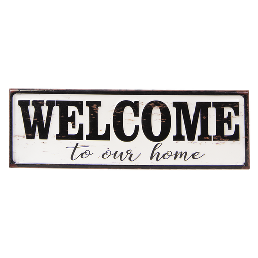 Tekstbord welcome to our home 60*15*1.5 cm