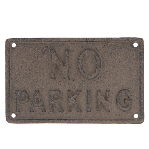 Tekstbord NO PARKING 19*12*0.5 cm