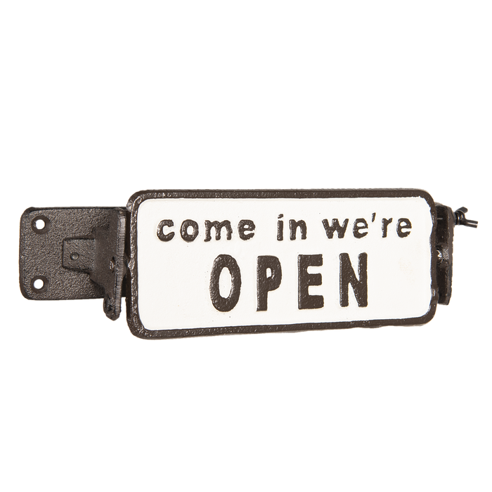Tekstbord open closed 17*7*8 cm