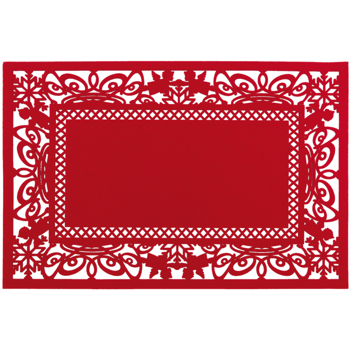 Placemat 45*30 cm rood