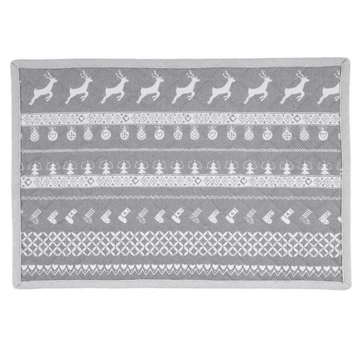 Placemat Nordic Grey Christmas 6 stuks