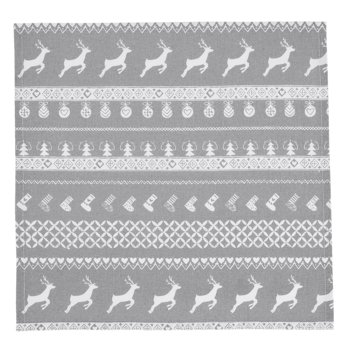 Servetten Nordic Grey Christmas 6 stuks