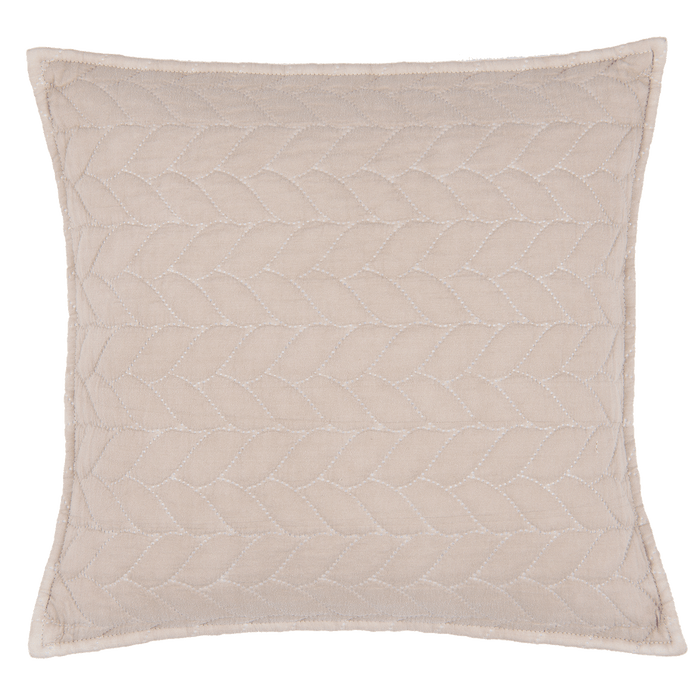 Nordic Style Quilted Bedsprei Kussenhoes 40 x 40 cm - beige