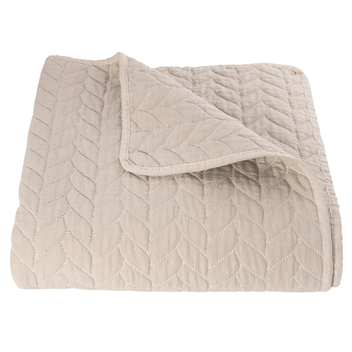 Nordic Style Quilted Bedsprei 180 x 260 cm - beige