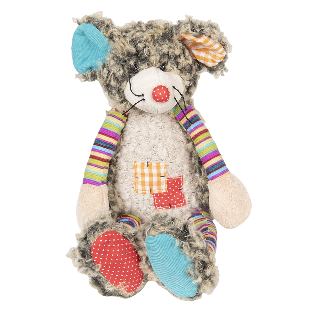 Shabby Chic | Crazy Quilt Muis Mientje 23 cm