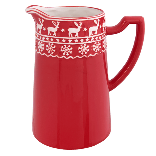 Kerstservies Cosy Winter Kan - rood/wit