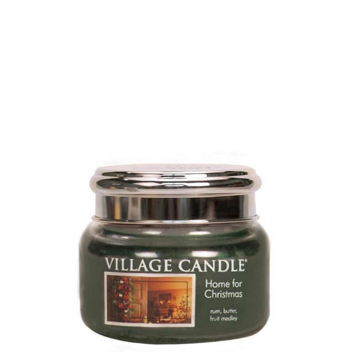 Village Geurkaars Home For Christmas | warme rum roomboter zoet fruit -small jar