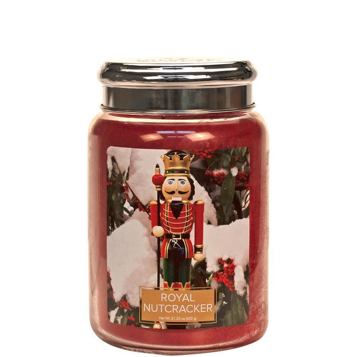 Village Geurkaars Royal Nutcracker | peperkoek kaneel kruidnagel citroen - large jar