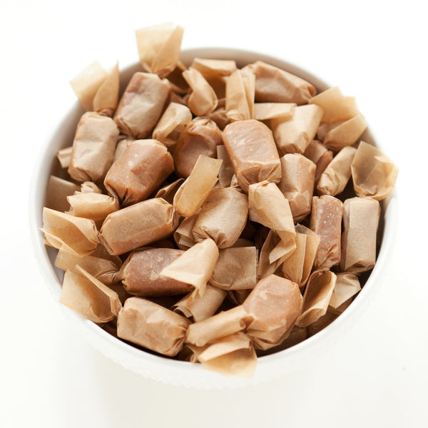 Bulk Fleur de Sel Caramels :: 2.5lbs of Individually Wrapped Caramels