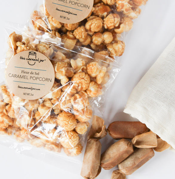 Fleur de Sel Caramel Popcorn + Caramels - Birthday, Teacher, Co Worker and Bridal Party Gift