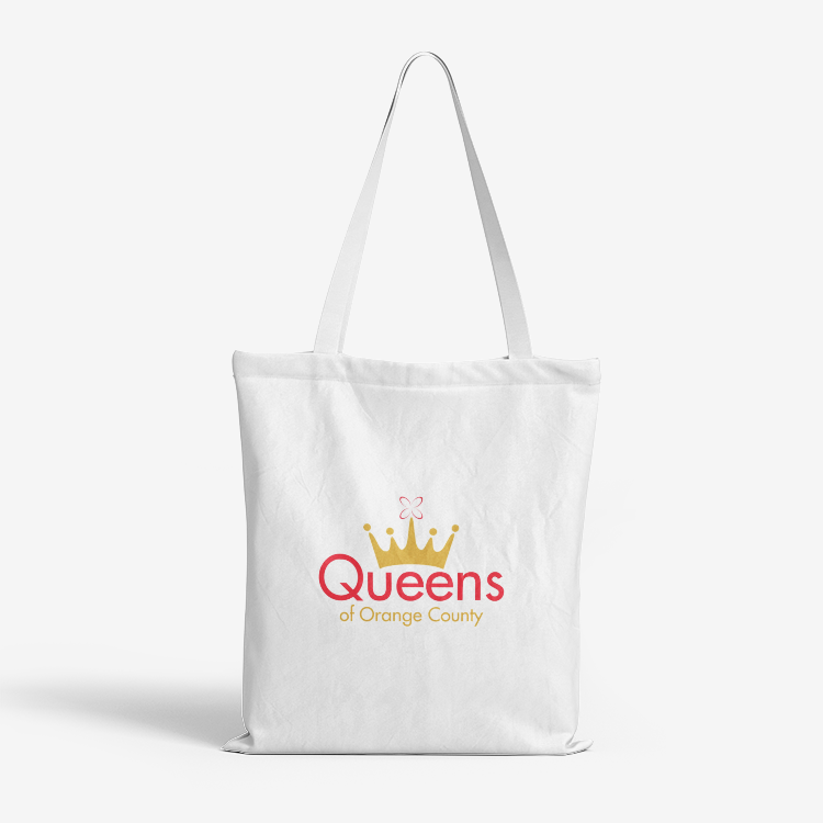 Queens tote bag. Reliable and strong. For picking up items at the grocery store.