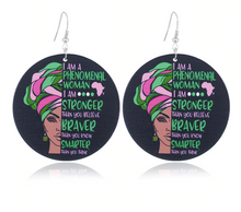 Load image into Gallery viewer, Phenomenal Woman Earrings