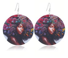 Load image into Gallery viewer, Flower Hair Drop Earrings