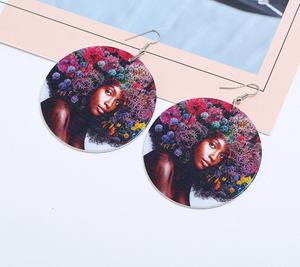 Flower Hair Drop Earrings