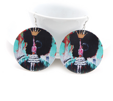 Load image into Gallery viewer, Natural Hair Queen Earrings
