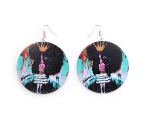 Natural Hair Queen Earrings