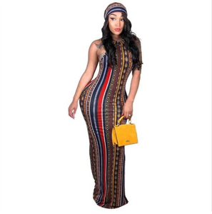 Bodysilk Diva Dress With Matching Headscarf