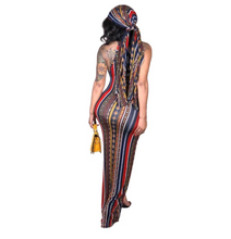 Load image into Gallery viewer, Bodysilk Diva Dress With Matching Headscarf