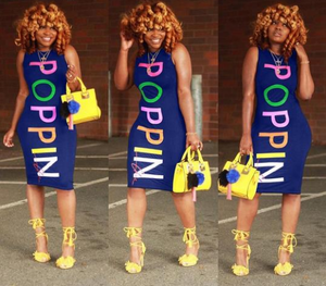 Melanin Color Poppin Dress