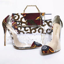 Load image into Gallery viewer, Dakar Rooftop Lounge Shoes with Matching Clutch and Fabric