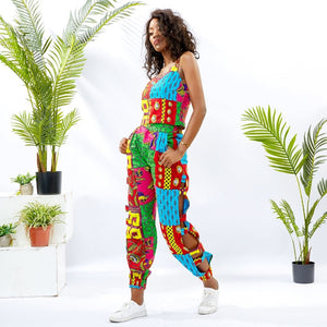 2 Piece Fashion Patchwork Jumper Set