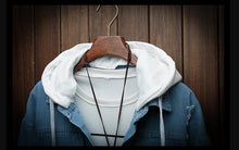 Load image into Gallery viewer, Denim Hooded Fashion Jacket