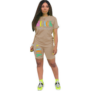 #BlackGirlMagic Shorts Set