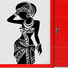 Load image into Gallery viewer, African Tribal Princess Wall Vinyl