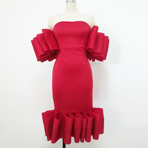 Heart Devine Ruffle Formal Dress