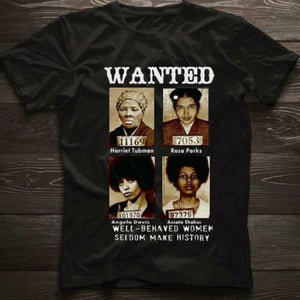 Wanted Brave Pioneers Tshirt (available in Mens and Women's Styles)
