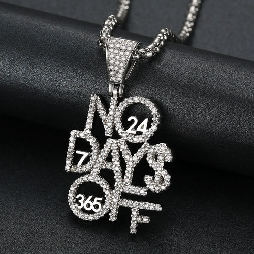 No Days Off Chain (Gold or Imitation Rhodium Plated)